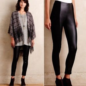 Anthropologie Faux Leather and Suede Leggings